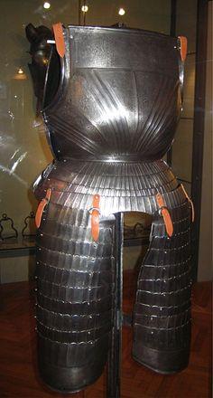 """Caterina Sforza's armour. Catherine was the wife of Giovanni di Pierfrancesco di Medici known as the """"popolano""""."""