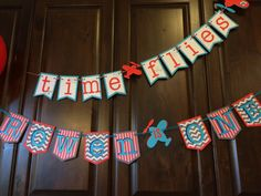Airplane Birthday Party Banner Airplane Banner by PaperedDelight