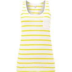 Barbour Berryhead printed stripe vest top ($20) ❤ liked on Polyvore featuring tops, shirts, sleeveless tops, sale, white, sleeveless vest, white tank top, white sleeveless shirt, print shirts and collared shirt