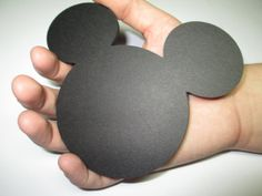 """20 Mickey Mouse Head 5"""" From Ear to Ear Black"""