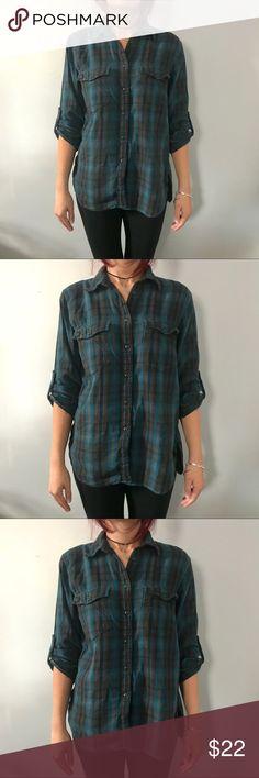 Ralph Lauren flannel 100% cotton button down Denim & supply Ralph Lauren 100% cotton flannel button down Denim & Supply Ralph Lauren Tops Button Down Shirts
