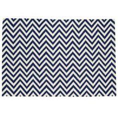 Amazon.com - Decorative Rugs: 8X10 Dark Blue Chevron Rug