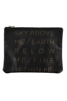 Sky Above Me Vegan Leather Zip Pouch - Spiritual Gangster - 1