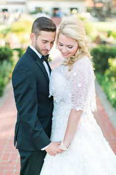 Love this lace capelet for a church ceremony.