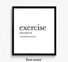 Definition of exercise