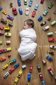 [newborn] session #cars #baby... all old cars, use ones from your own childhood