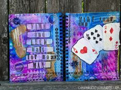 The Gypsy Owl Art Co.: Time and Luck: an Art Journal Page