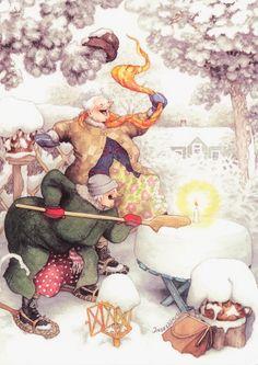 Inge Löök- fun in the snow