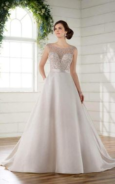 276ec8c1c0 D2293 Traditional Ball Gown with Embellished Boat Neck by Essense of  Australia Wedding Dresses Photos