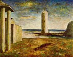 carlo carra paintings | El Faro - Carlo Carra - WikiPaintings.org