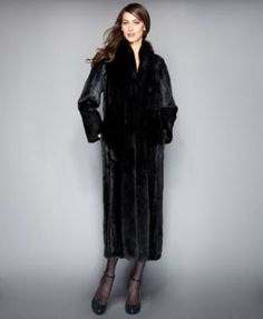 The Fur Vault Fox-Trimmed Mink Maxi Coat My Near Future husband can purshase this for me!