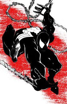 Symbiote Spiderman fan art. by PMComics on Etsy https://www.etsy.com/listing/215447530/symbiote-spiderman-fan-art