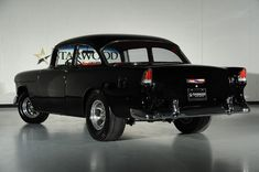 Beautiful in all-out black Bel Air Car, 1955 Chevy Bel Air, 1955 Chevrolet, Chevrolet Bel Air, Chevy Muscle Cars, Best Muscle Cars, American Muscle Cars, Drag Cars, Hot Cars
