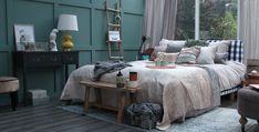 slaapkamer styling met Walra dekbedovertrek Stewart en plaids Sven #styling #inspiration #koffietijd