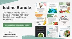 ❤️ DOWNLOAD SOCIAL MEDIA CONTENT ❤️ 🧪Iodine Bundle 🧪 Iodine is needed for the production of thyroid hormone. Our bodies do not make iodine, so it must be an essential part of our diet. Iodine is found in various foods. Unfortunately, 72% of people worldwide are affected by some type of iodine deficiency disorder. #Iodine #Thyroid #Hormone Social Media Images, Social Media Content, For Your Health, Health And Wellness, Iodine Deficiency, Thyroid Hormone, Our Body, Live For Yourself, Bodies