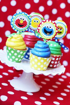 Sesame Street Cupcake Toppers - DIY PRINTABLE - Inspired by Sesame Street - Amanda's  Parties To Go
