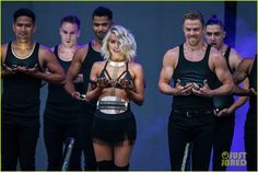 derek julianne hough aurora phillip move tour nc pics 20 Derek dips sister Julianne Hough way back while performing on their Move Live on Tour on Thursday night (July 2) in Raleigh, N.C.