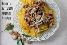 Simply Cooked: Pumpkin Pasta with Walnuts and Lemon