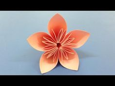 Easy decoration ideas how to make this colored paper floral decor how to make a kusudama paper flower easy origami kusudama for beginners making diy paper crafts youtube mightylinksfo