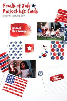 Fourth of July Project Life Cards at Sweet Rose Studio
