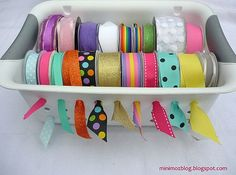 Dollar Store Organizing Ideas. Ribbon, scarf, and dry erase ideas were cool.