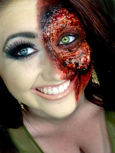Bloody Halloween makeup! www.facebook.com/makeupbymegantistle