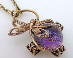 Dragonfly necklace Art Nouveau