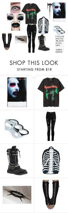 """Out With Marilyn Manson aka Brian Hugh Warner"" by that-kid-in-the-back ❤ liked on Polyvore featuring Killstar, Dorothy Perkins and Demonia"