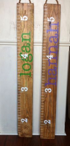 Growth Chart / 48 Personalized Painted Wooden Ruler by RouxBeeLu