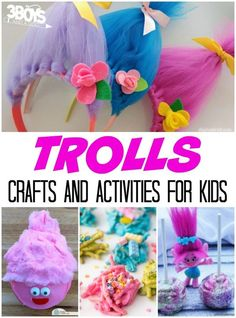 Trolls Crafts and Activities for Kids - It's always fun to put together a themed craft idea or game with little children and these DIY Trolls crafts and activities for kids are perfect for little Trolls fans! They can use these fun projects to make their own Troll-inspired sweets, dress up like a Troll, or create a Troll craft that they can play with!