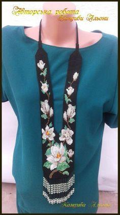 Новости flowers black beaded necklace beadwork