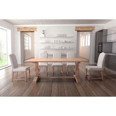 Shop for Zuo Norfolk Natural Beige Fir Wood Dining Table. Get free shipping at…