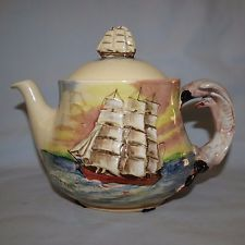 SCARCE Royal Doulton Famous Ships The Cutty Sark teapot and lid D5957