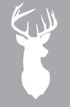 Free large deer silhouette print. Layer different colors of scrapbook paper