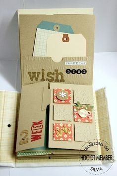 "Mini album: ""December Weekly"" by Silva Mini Album Scrapbook, Scrapbook Cards, Scrapbooking Technique, Tutorial Scrapbook, Mini Album Tutorial, Photo Tutorial, Handmade Books, Mini Books, Flip Books"