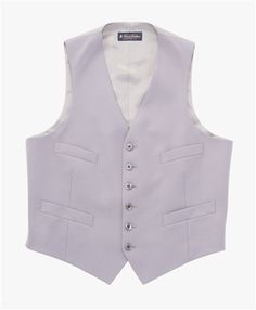 Brooks Brothers Midweight Wool Single Breasted Vest: Grey