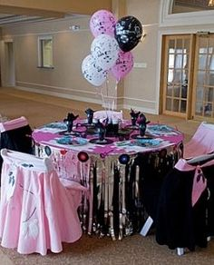 Themepartiesnmore is your leading source for Fifties Party Tableware & Table Decorations and much more. We are your first choice for all your Fifties Sock Hop & Rock n Roll Party Tableware & Centerpieces. 50th Birthday Party Themes, 50s Theme Parties, 50th Party, 80th Birthday, Party Party, Birthday Ideas, Fifties Party, 1950s Party, Retro Party
