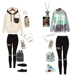 """Untitled #127"" by tayaaa12 on Polyvore featuring Allurez, Topshop, Vans, Disney, Chanel, Monica Vinader, David Yurman and Candie's"