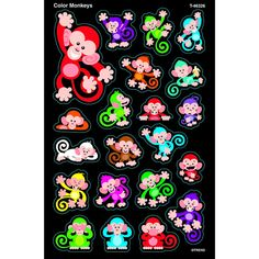 COLOR MONKEYS SUPERSHAPES STICKERS