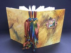 """Jacqueline Sullivan's Ribbon Bound Journal - not technically an """"altered book"""" but it's lovely!"""