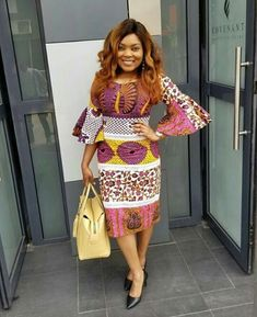 One of the best styles you can sew with your Ankara fabric is a short gown. That is why we have carefully selected these latest Ankara short gown styles. African Fashion Ankara, Latest African Fashion Dresses, African Print Dresses, African Print Fashion, Africa Fashion, African Dress, African Jumpsuit, Ankara Short Gown Styles, Short Gowns