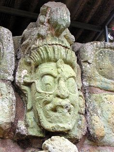 Great Jaguar, Copan Ruins, Honduras. B'alam Nehn (often referred to as Waterlily Jaguar) was the first king to actually record his position in the dynastic succession, declaring that he was seventh in line from K'inich Yax K'uk' Mo'. Stela 15 records that he was already ruling Copán by AD 504. (V)