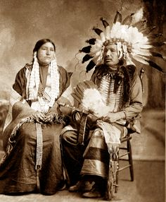 Father Ambrose Mattingly took this picture of this Native American couple from the Big Bend area of the Crow Creek Reservation in South Dakota.