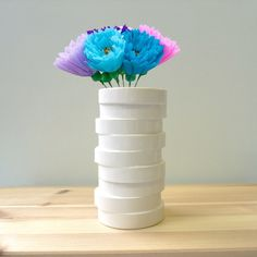 Modern ceramic vase in non concentric slices   by studioLORIER, €55.00