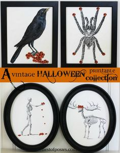 Halloween clip art printables with posies ~ {free art} - Nest of Posies