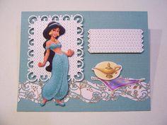 Princess Jasmine Birthday handmade card