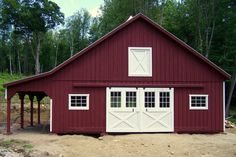 High Profile Modular with an overhang... what do you think?  http://www.woodtex.com/barns-and-run-in-sheds.asp