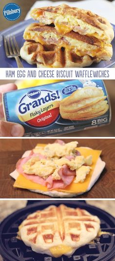 Ham, Egg, and Cheese Biscuit Wafflewiches are a fun and easy breakfast that's full of flavor! It's the recipe you make when you want to mix things up a bit. This easy hearty recipe is your perfect breakfast. <3