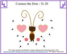 Check out these printable dot to dot puzzles created to teach your child how to count to twenty. Larger number puzzles available for older children and adults.