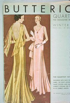 Butterick 3464, 1930s Evening Dress